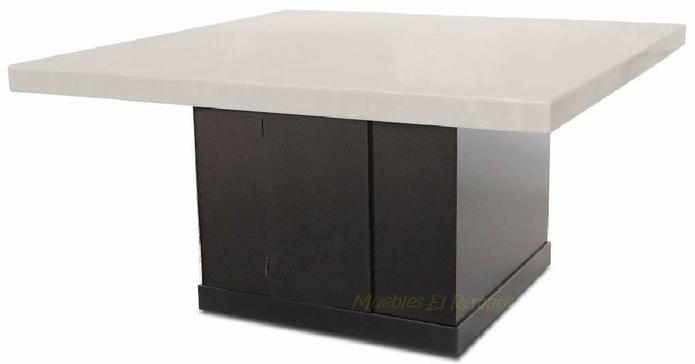 Mesa de marmol procesado 8 personas 150 cms x 150cms en for Remate de muebles para el hogar