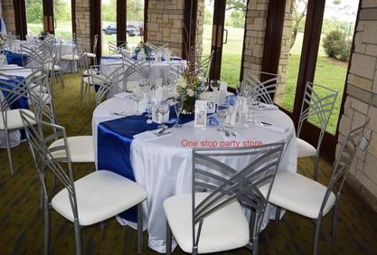 Royal blue and white Wedding