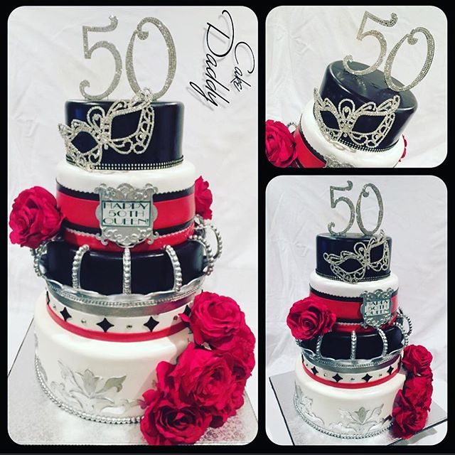 Custom 50th Birthday Cake