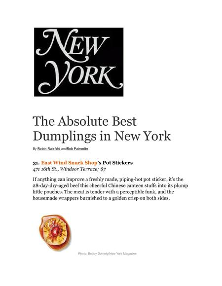 absolute best dumplings in ny