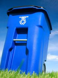 Image of a recycling cart