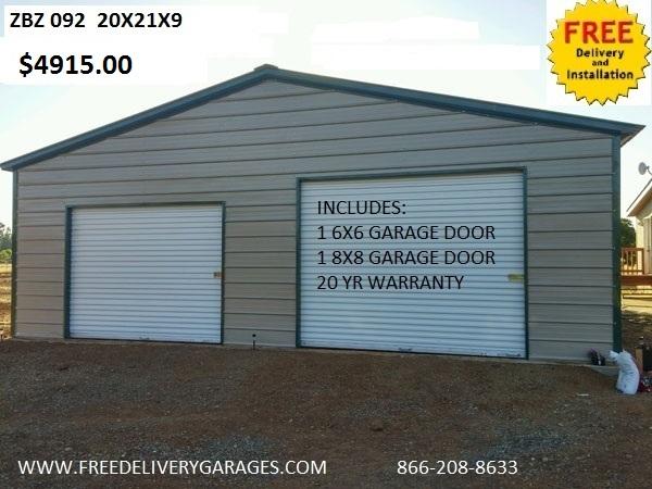 Free Delivery Garages - Steel Carports, Steel Garages, Metal Carport