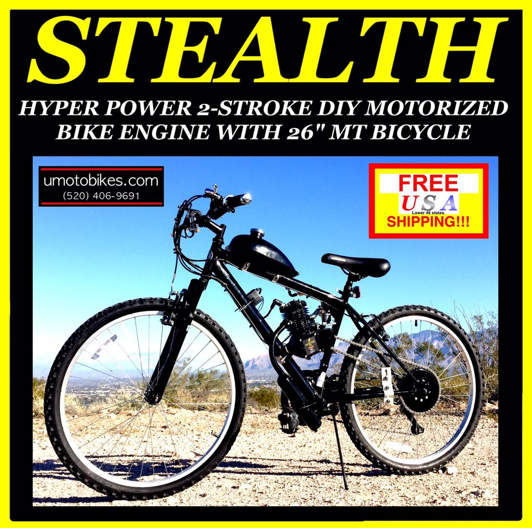 U-MOTO Motorized Bicycles - Motorized Bikes, Motorized Bike Kits