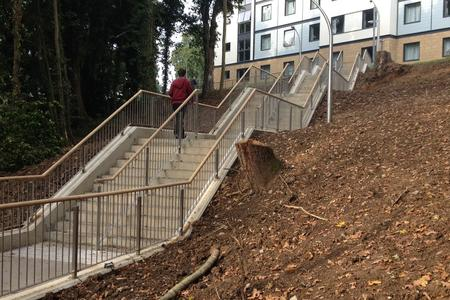 Finished Steps Construction Kent University, Ovenden Allworks, Case study