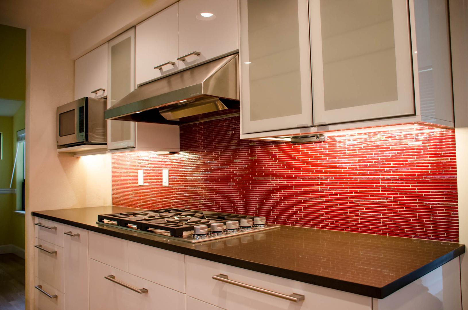 Red Brick Tiles Kitchen Ikea Inspired Design