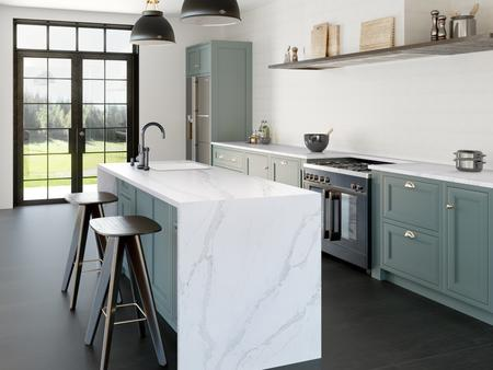 Silestone is a combination of natural quartz and other raw materials that are extraordinarily hard and resilient. These characteristics combine to create an ideal surface for kitchen countertops.