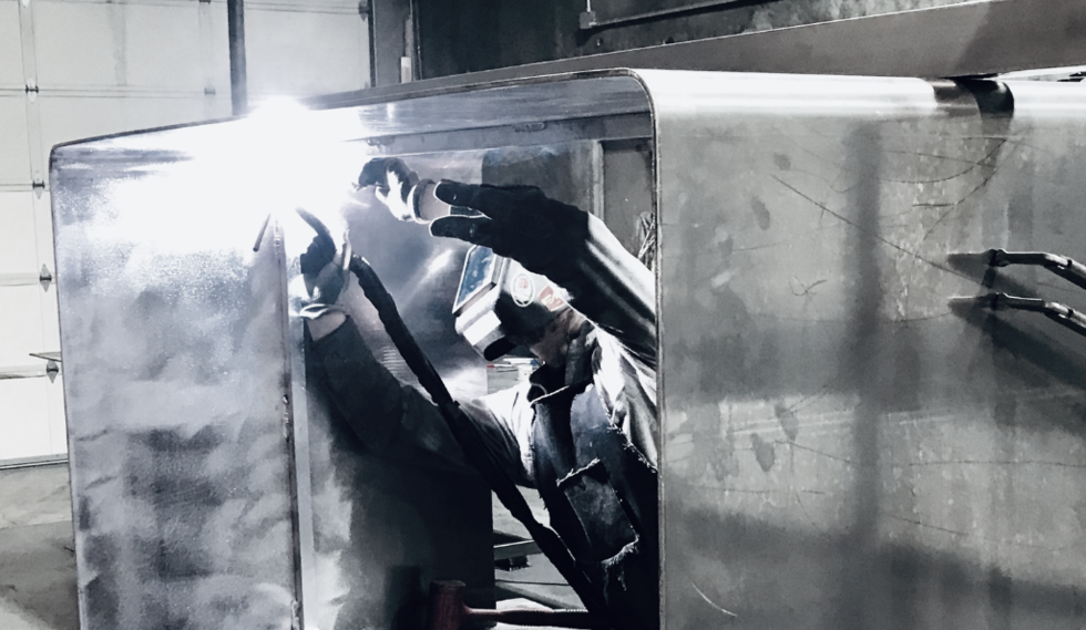 Tig welding aluminum @ Black Label Metal #theblacklabelmetal #blacklabelmetal BLACK LABEL METAL - Metal Fabrication, Waterjet cutting and Powdercoat - Hillsboro Oregon