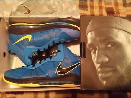 New in The Box!-Nike Lebron 8 v2 entourage edition- bright blue and yellow Nike