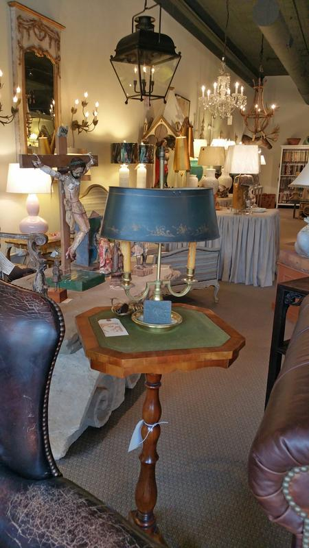 antique wooden table english felt topped brass antique french table lamp
