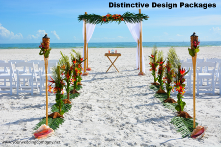 Florida Beach Wedding - Distinctive Design package