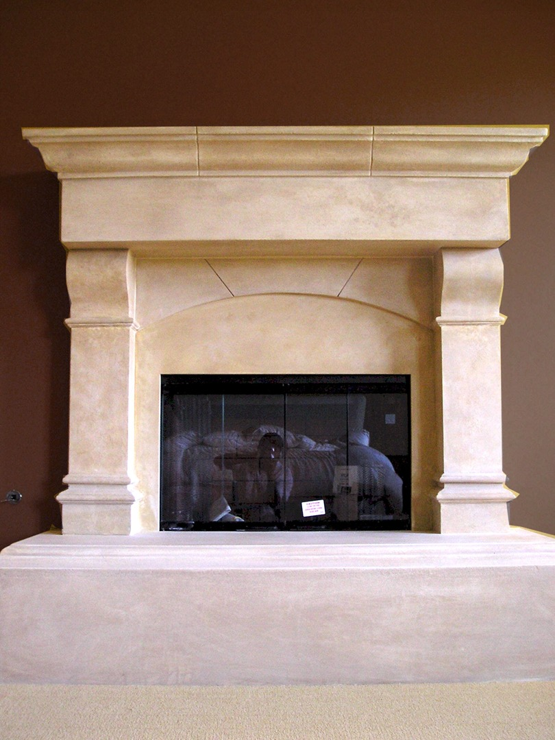 We Manufacture and Install Cast Stone Mantels throughout San Diego