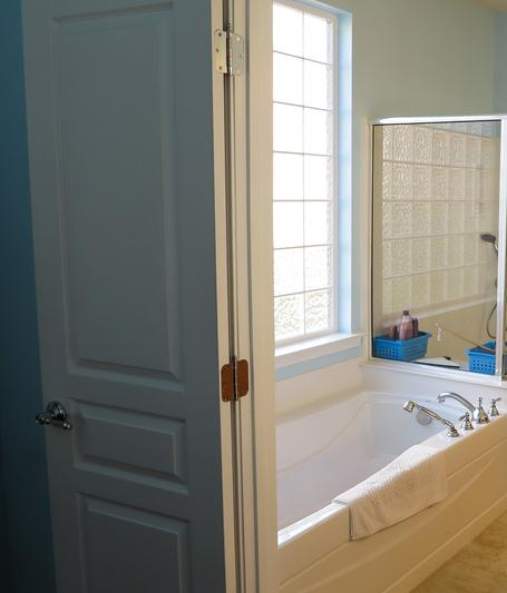 Handicapped person gets accessible bathroom during remodel