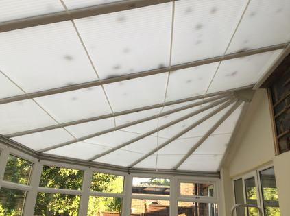 Conservatory roof insulation with superquilt kingspan celotex before the works mozeypictures Image collections