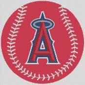 Cross Stitch Chart pattern of the Los Angelese Angels of Anaheim