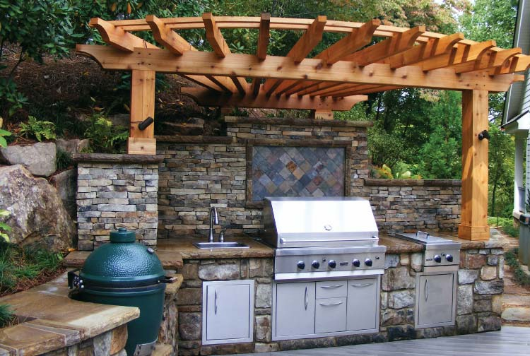Outdoor kitchen san antonio home design for House plans with outdoor kitchens