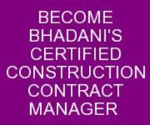 BHADANIS CONSTRUCTION CONTRACT MANAGEMENT COURSE IN DELHI INDIA KOLKATA GHAZIABAD MEERUT UTTARPRADESH HARYANA PUNJAB