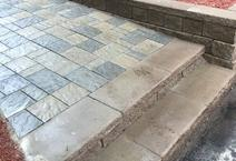 Brick paver walkway retaining wall Clarkston Unilock