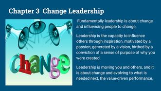 change, leadership