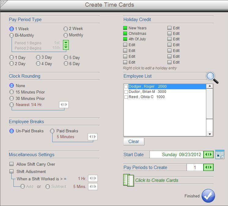 timecard manager basic time calculator software