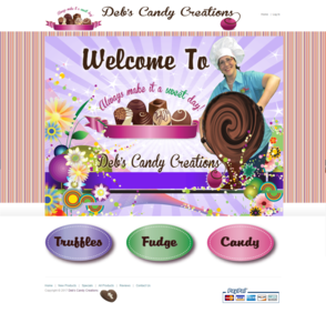 Website Design - Deb's Candy Creations