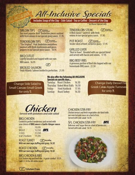 Mediterranean restaurant menu saint john for Mediterranean menu