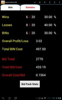 PA Stats Screen