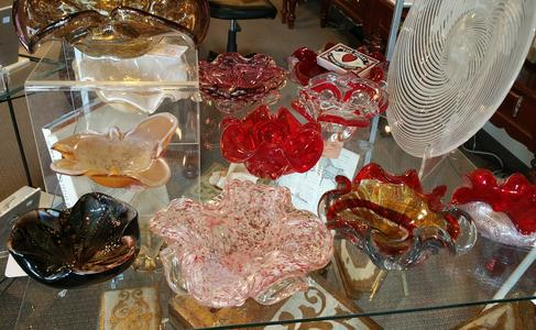 Murano Italian candy dishes glass decor