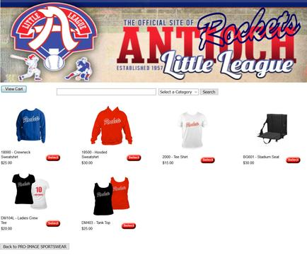 Antioch Little League Store
