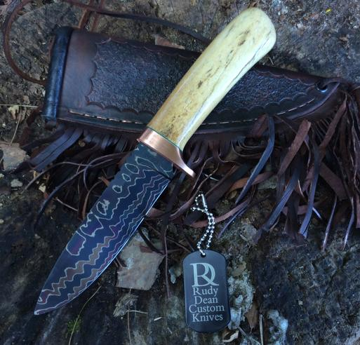 Damascus Knife, Custom Knives - Rudy Dean - Harrisonburg, Va