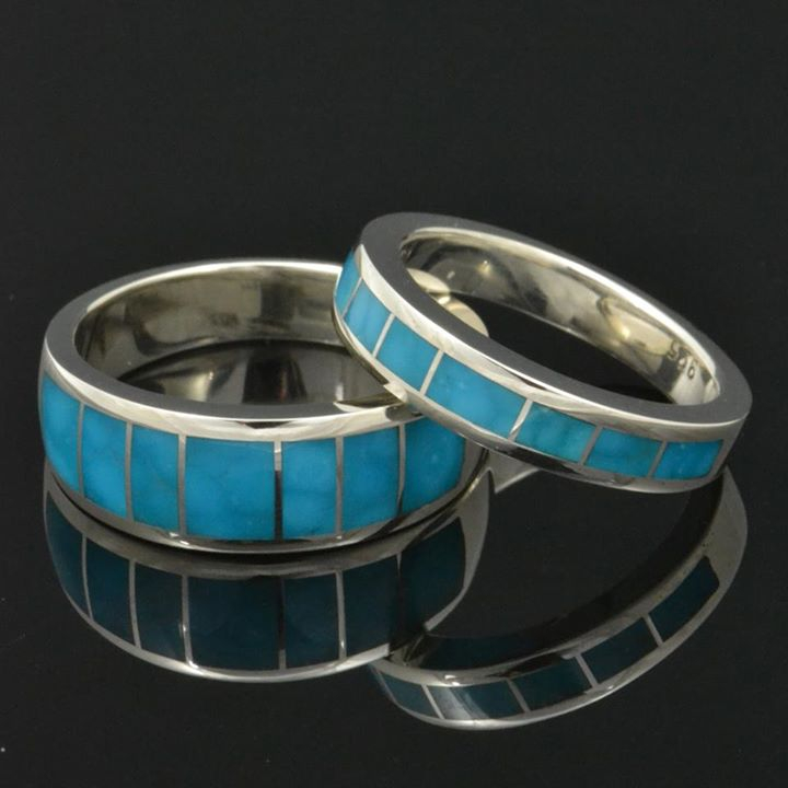 Turquoise Wedding Rings And Sets