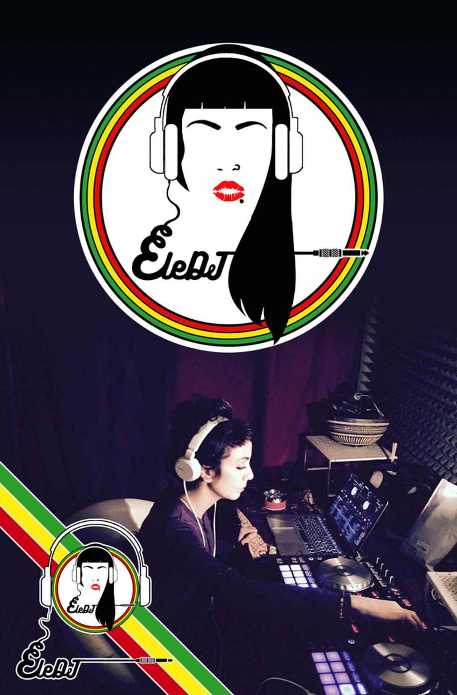 ELE DJ LOGO REGGAE RISING TIME GRAFICA MODELLAZIONE 3D MODEL PROJECT DESIGN DESIGN107