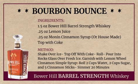 Bourbon Bounce, Bower Hill Barrel Strength Whiskey Recipe