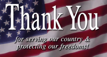 Veteran's Thank You Image
