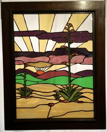 "Stained Glass Window ""Centurion Sunrise"" by Randall Soileau"