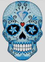 Cross Stitch Chart of Sugar Skull No 29