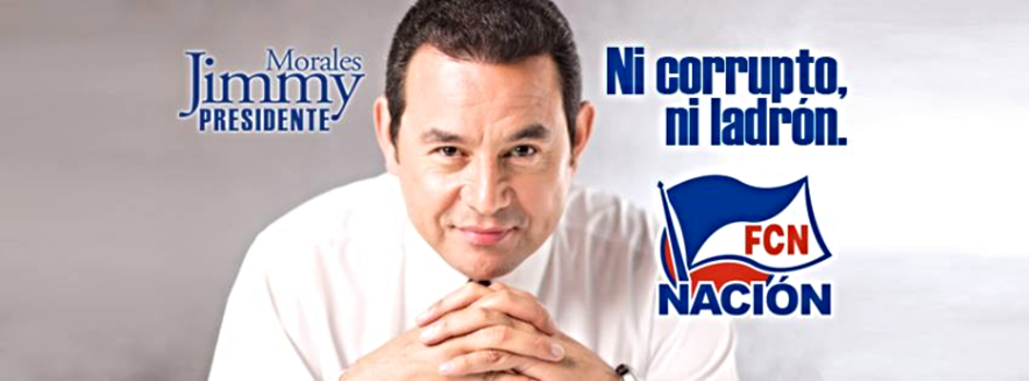 Actor Jimmy Morales wins Guatemala presidential vote
