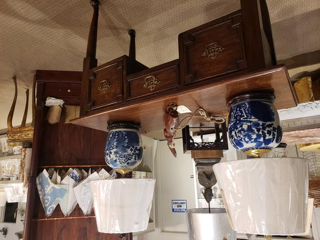 antique vintage and new furniture chinese blue and white table lamps