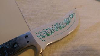 How to metal etch a design onto a knife blade or spine. FREE step by step instructions. www.DIYeasycrafts.com