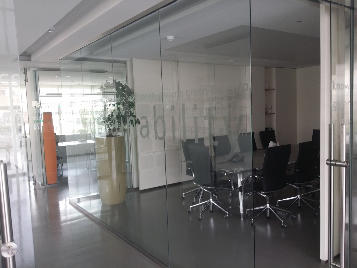 Fire rated glass office doors - Mirrors