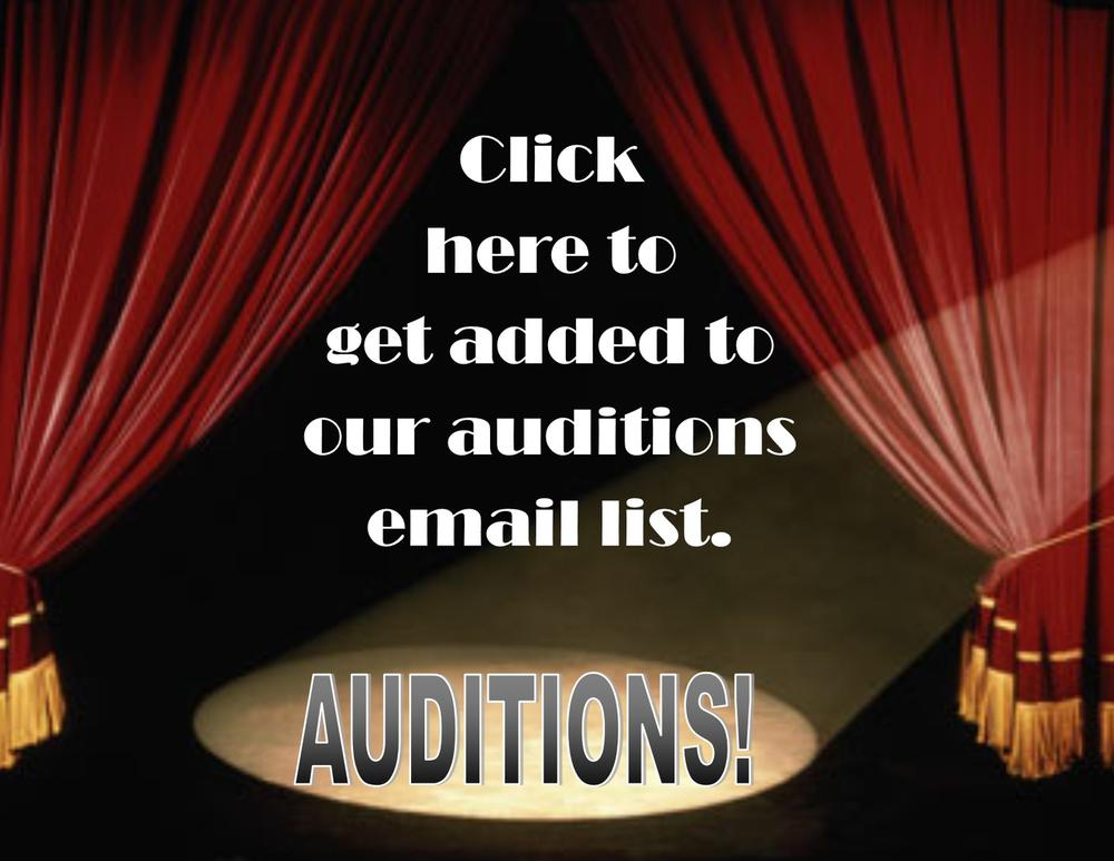 Auditions email list