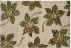Hand-tufted floral rug