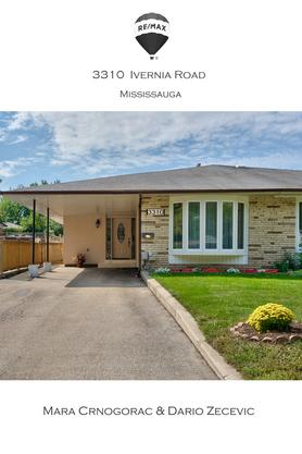 Feature Sheet: 3 Bedroom 2 Bathroom + Basement Freehold Semi-Detached Home - Mississauga