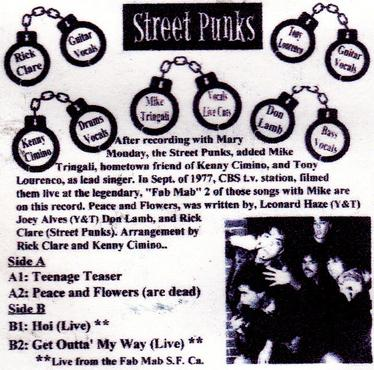 Street Punks Band, Backside of second record.
