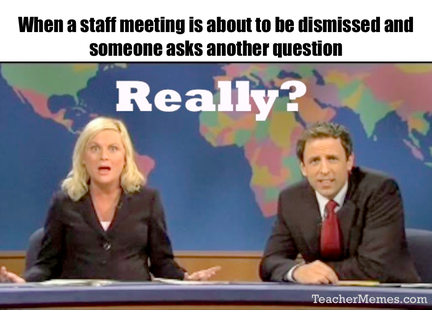 how to hold a staff meeting