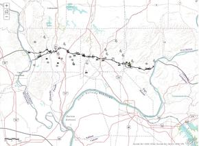 Online Geographical Information System for Trail of Tears, southern Illinois