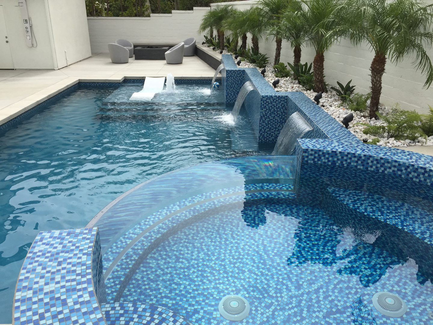 meridian custom pools - swimming pool construction, modern and