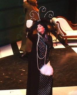 Stephanie Horowitz performing in an opera