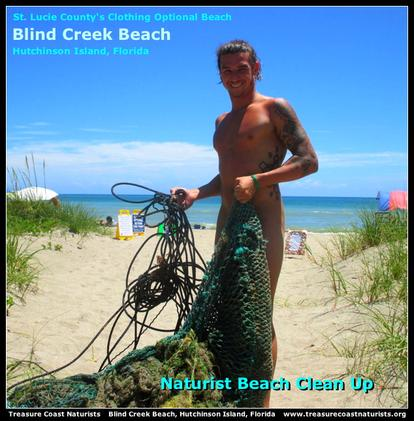 Blind Creek Beach, nude beach, naturist beach, free beach, clothing optional beach, naturism, nudism, nudist, nudie, Treasure Coast Naturists, Hutchinson Island, Fort Pierce, Ft Pierce, St Lucie County, Florida