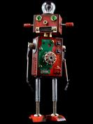 Radon retro robot sculpture art