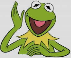 Cross Stitch Pattern Chart of Muppet Kermit the Frog